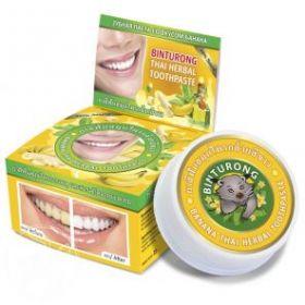 Круглая зубная паста со вкусом банана «BINTURONG», 33г
