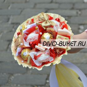 "Букет из конфет №708 ""Птичье молоко"""