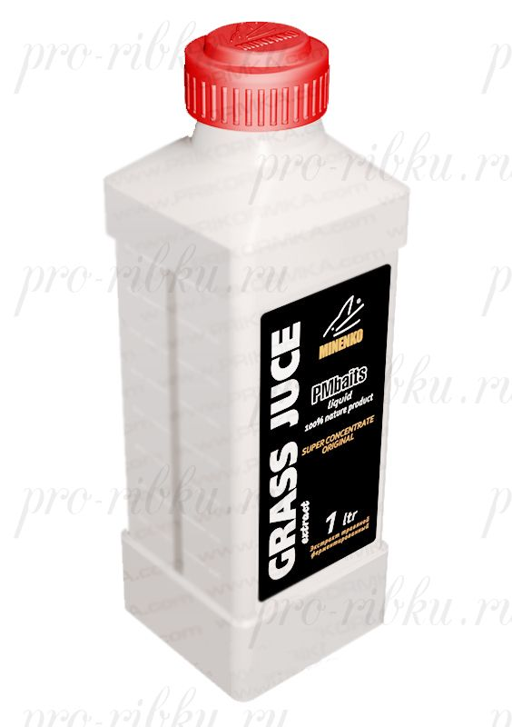 Прикормка МИНЕНКО PMbaits Grass Juice (Травяной), объем 1 л