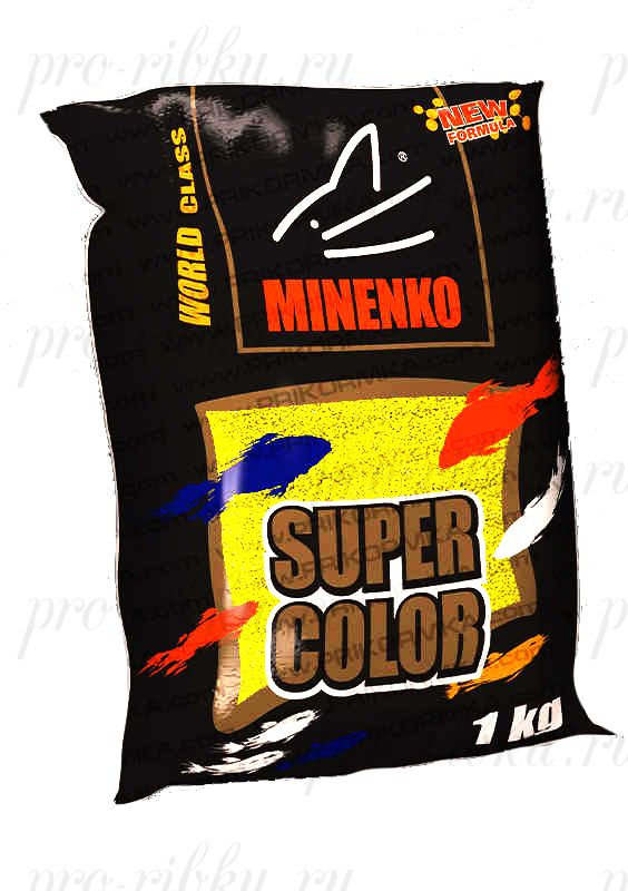 Прикормка МИНЕНКО Super Color Roach (Плотва), Желтый, вес 1 кг