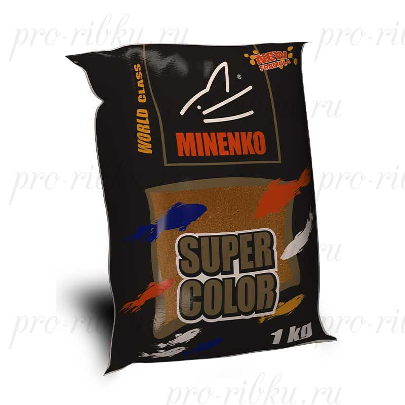 Прикормка МИНЕНКО Super Color Roach (Плотва), Коричневый, вес 1 кг