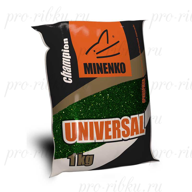 Прикормка МИНЕНКО Universal (зеленая), вес 1 кг