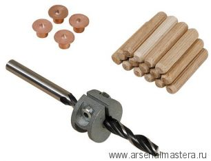 Набор для соединений на шкантах (шипах) диам.10 мм Wolfcraft 2918000