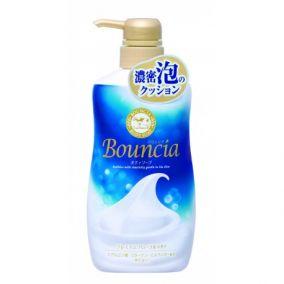 """Жидкое увлажняющее мыло для тела COW BRAND """"Bouncia"""" """"Взбитые сливки"""" с гиалуроновой кислотой и коллагеном аромат свежести, диспенсер 550 мл."""