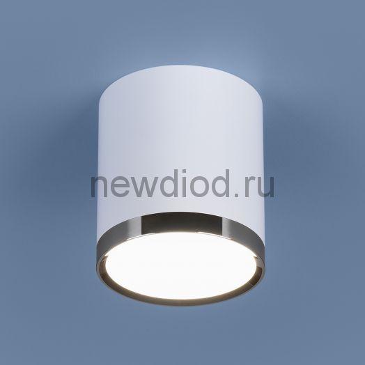 Накладной точечный светильник DLR024 6W 4200K белый матовый