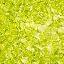 Бисер чешский 01153 салатовый прозрачный Preciosa 1 сорт