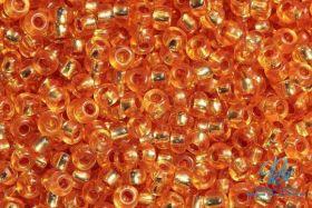 Бисер чешский 08289 оранжевый прозрачный серебряная линия внутри Preciosa 1 сорт