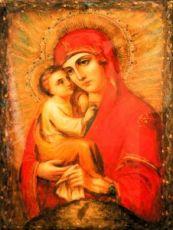 Икона Почаевская икона Божией Матери (копия старинной)