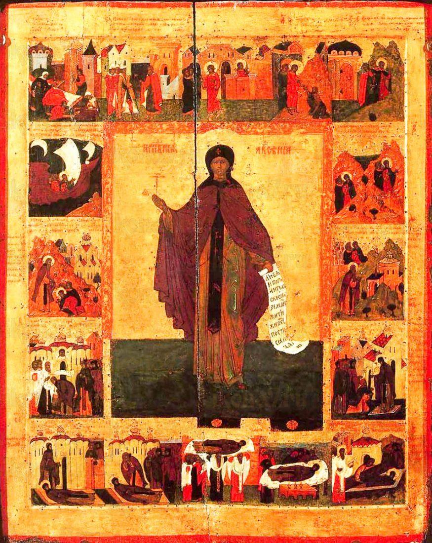 Икона Ксения Миласская (копия старинной)
