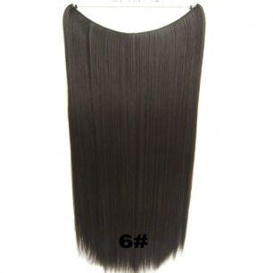 Искусственные термостойкие волосы на леске прямые №006 (60 см) - 100 гр.
