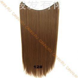 Искусственные термостойкие волосы на леске прямые №012 (60 см) - 100 гр.