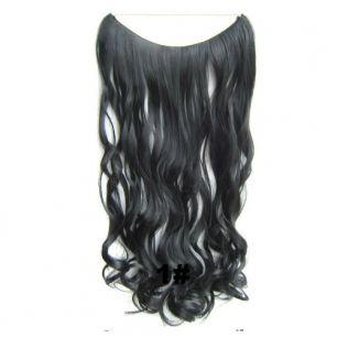 Искусственные термостойкие волосы на леске волнистые №001 (60 см) - 100 гр.