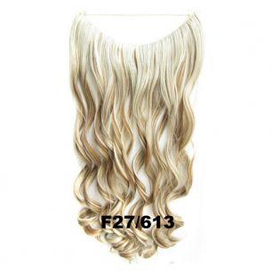 Искусственные термостойкие волосы на леске волнистые №F027/613 (60 см) - 100 гр.
