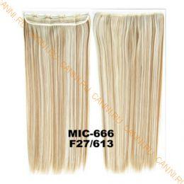 Искусственные термостойкие волосы на заколках на трессе №F27/613 (55 см) - 1 тресса, 100 гр.