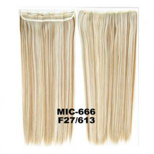 Искусственные термостойкие волосы на заколках на трессе №F027/613 (55 см) - 1 тресса, 100 гр.