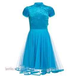 Платье для бальных танцев из лайкры и велюра
