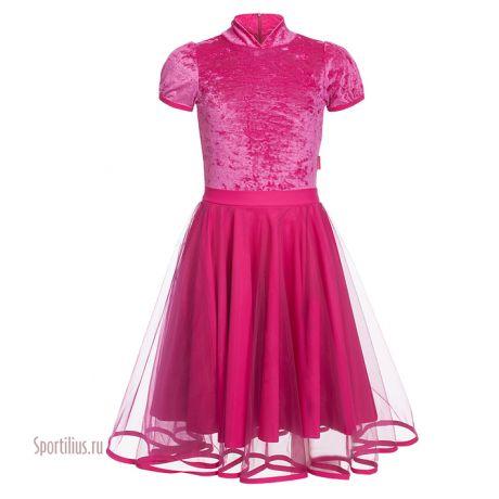 платье розовое из бархата