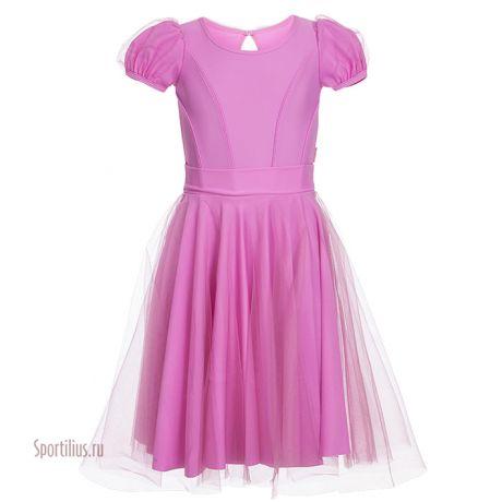 Платье для танцев, рукав фонарик