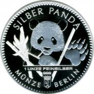 Германия 2017 Серебряная Панда серебро унция