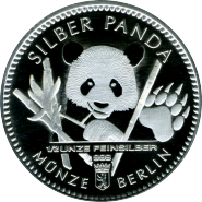 Германия 2017 Серебряная Панда серебро 1/2 унции