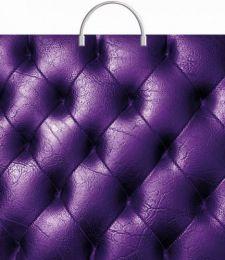 """Пакет с пластиковой ручкой  36х37 см """"Фиолетовая кожа""""  10 шт. 100 мкм"""