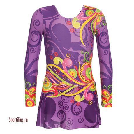 Костюм гимнастический для девочки, фиолетовый
