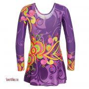 фиолетовый костюм для художественной гимнастики