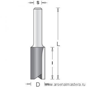 Концевая цилиндрическая пазовая фреза с напайными пластинами 6.0x19.0x51x6 DIMAR 1070103