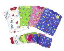 Пижама с кокеткой (большие размеры) C-PJ023(2)-IT | Варианты расцветок | Артикул 1634 | МАМИН МАЛЫШ