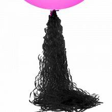 Подвеска бумажная, спираль, чёрная, 1 м