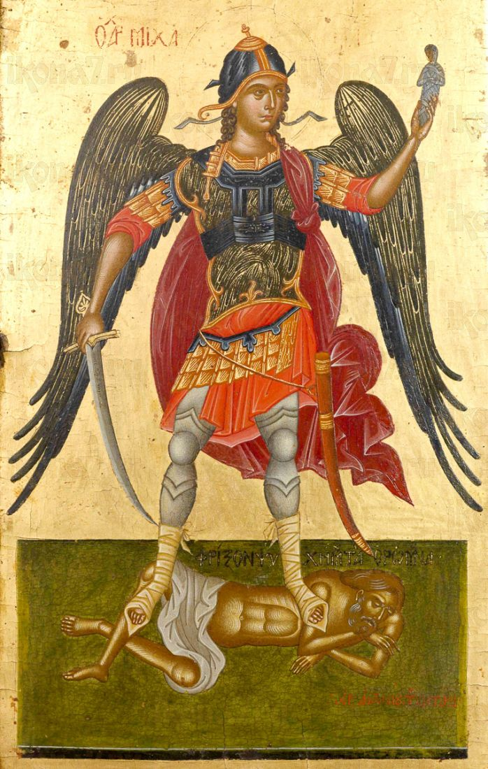 Икона Михаил Архангел (копия 17 века)