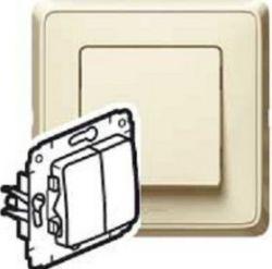 Переключатель Legrand Cariva  2-клавишный крем (арт.773708)