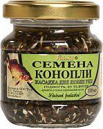 Консервированная натуральная насадка FISH.KA Семена конопли объем 110 мл