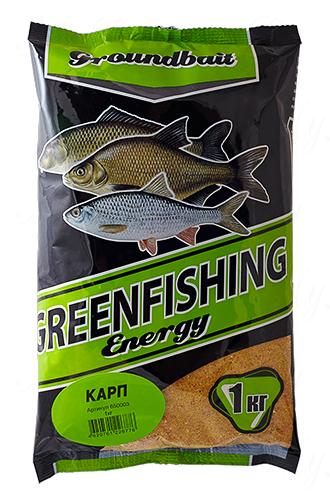 Прикормка GREENFISHING Energy Карп (Лето), вес 1 кг