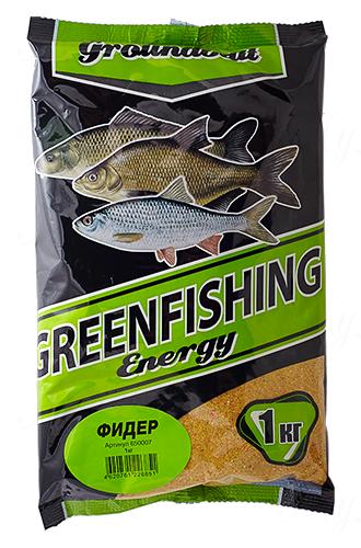 Прикормка GREENFISHING Energy Фидер (Лето), вес 1 кг