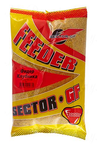 Прикормка GREENFISHING SECTOR-GF Feeder Клубника, вес 1 кг