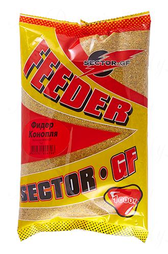 Прикормка GREENFISHING SECTOR-GF Feeder Конопля, вес 1 кг