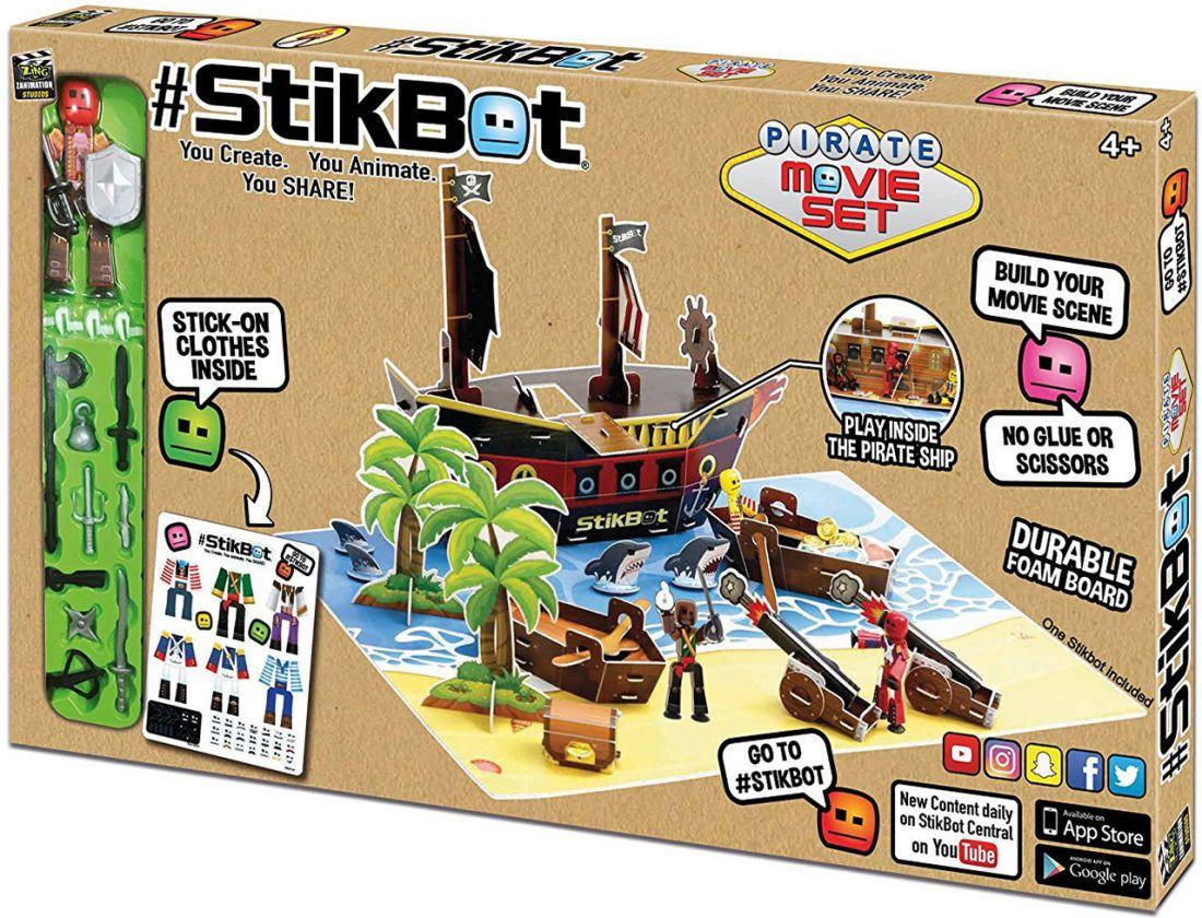 Stikbot Пиратский Корабль – анимационный мини-павильон с декорациями