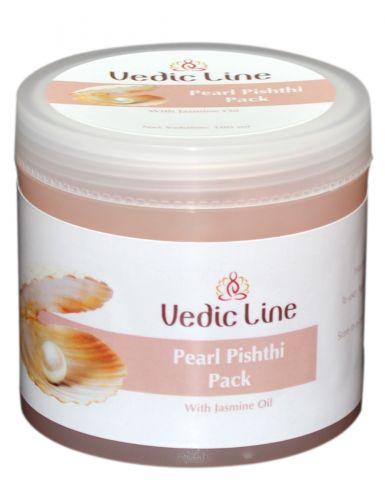 Маска для лица Жемчуг | гелевая с жемчужной пудрой и маслом жасмина | 100 мл | Vedic Line