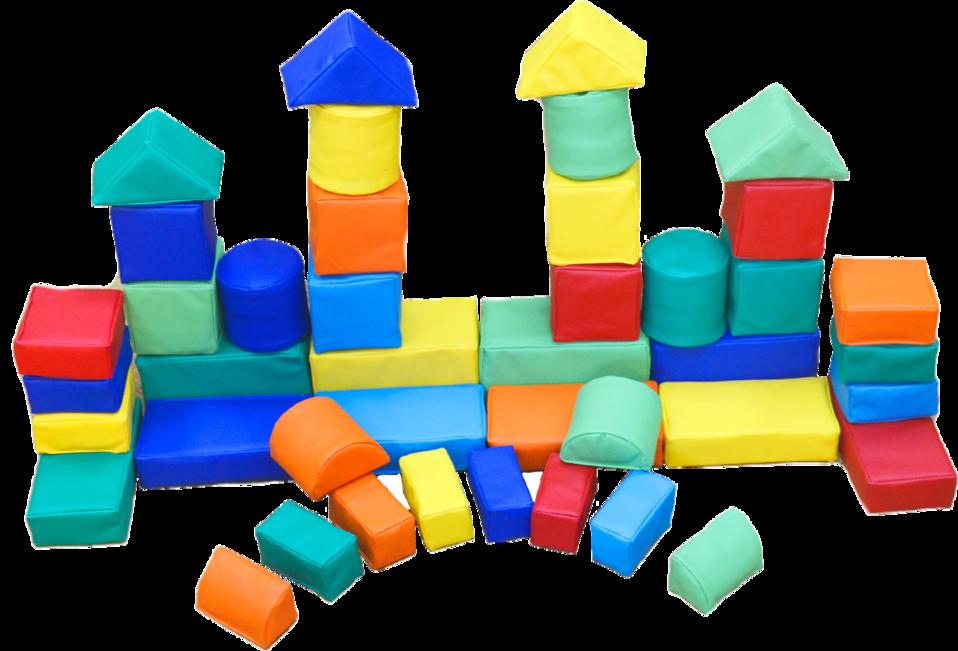 """Детский развивающий мягкий конструктор  """"Архитектор"""" (42 элемента)"""