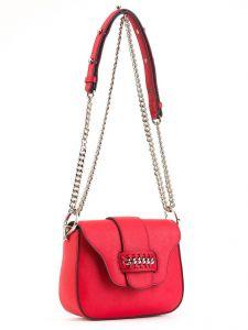 Красная сумочка через плечо