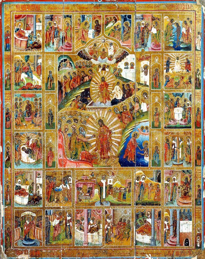 Икона Воскресение Христово (копия 19 века)
