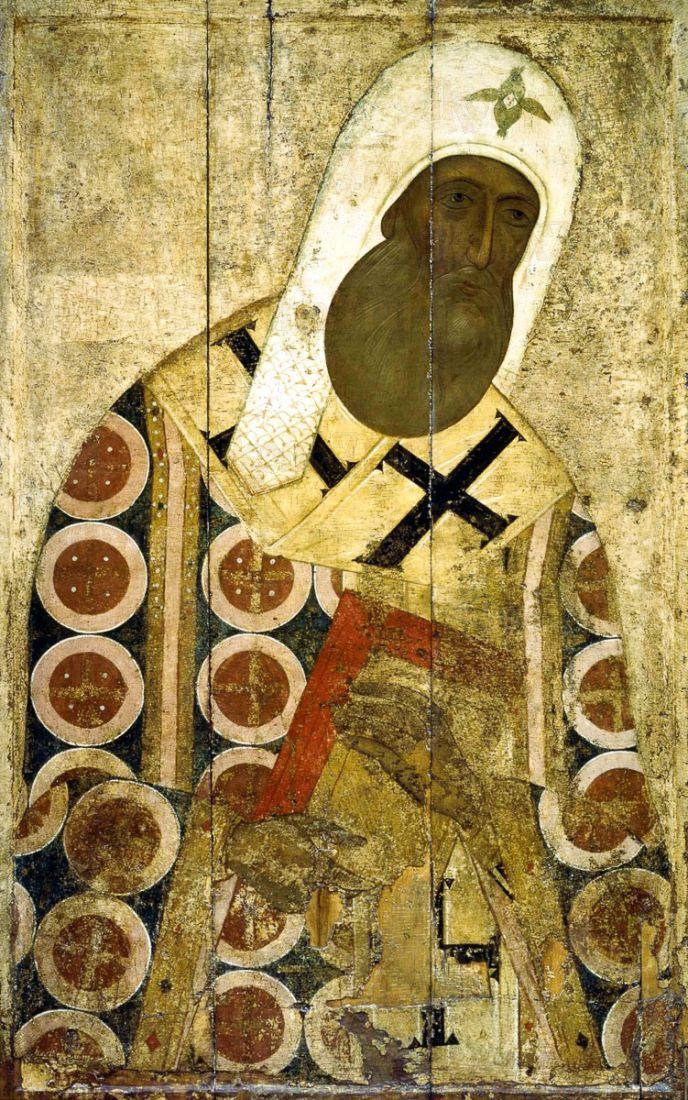 Икона Петр Московский (копия 15 века)