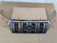 Хромированные накладки на решетку радиатора и фары для Toyota Land Cruiser Prado 150 2017 -