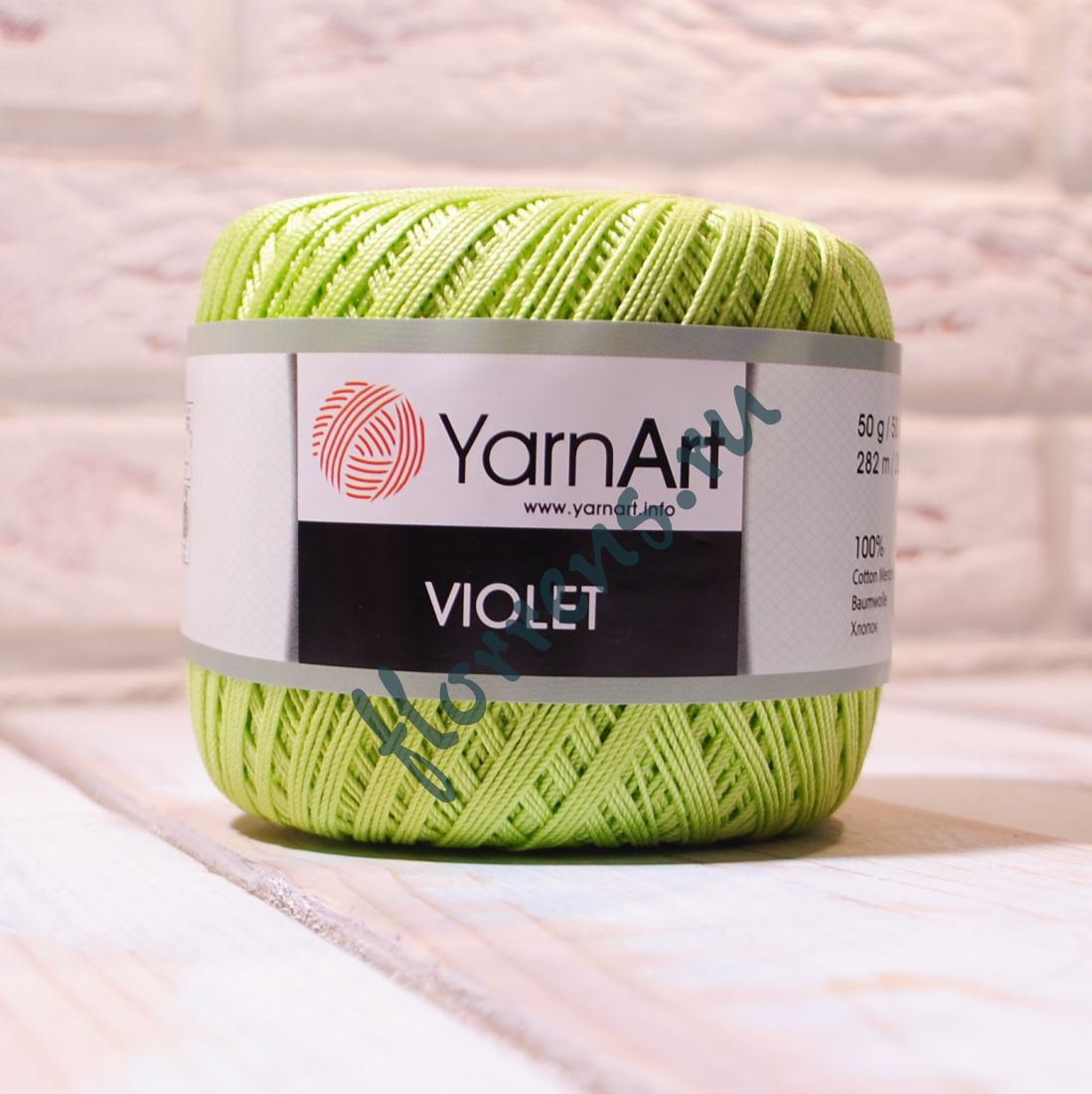 Пряжа YarnArt Violet / 5352 светло-зеленый
