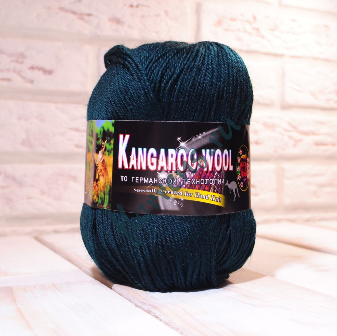 "Пряжа ""Color City"" Kangaroo wool / 2427 т. изумруд"