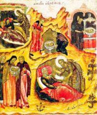 Обретение Главы Иоанна Предтечи (копия старинной иконы)