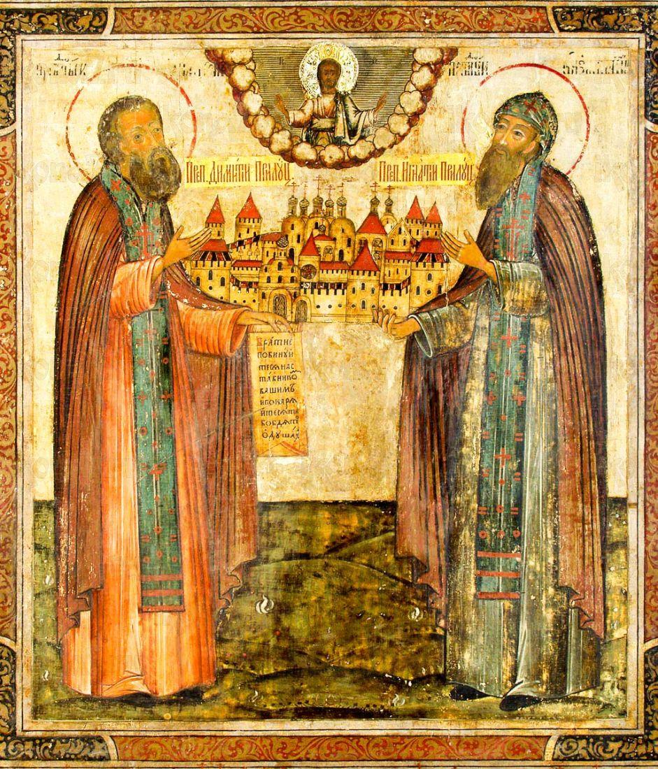 Димитрий и Игнатий Прилуцкие (копия иконы 17 века)