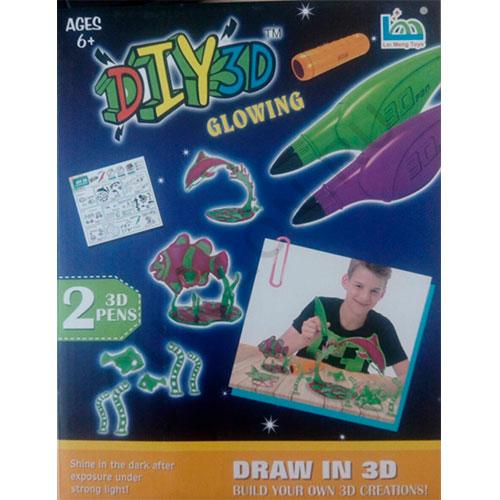 Набор для детского творчества DIY 3D GLOWING, арт.LM555-2C-Y