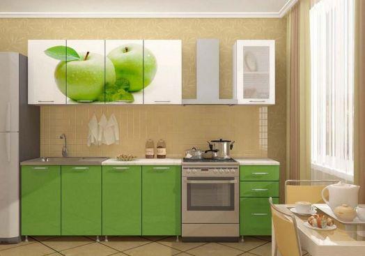 Кухня ЛДСП с фотопечатью Яблоко 2,0 м